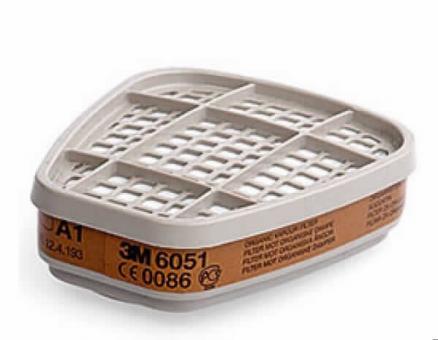 3M Filter 6051 A1 gegen organische Gase u.Dämpfe