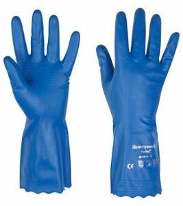 Vinyl Soft Schutzhandschuhe, blau, velourisiert, Ersatz für