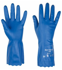 Vinyl Soft Schutzhandschuhe, blau, velourisiert, Alternative