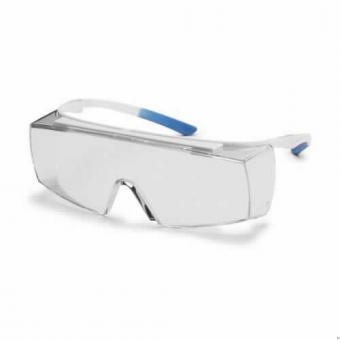 UVEX 9169.500 Schutzbrille super f OTG, weiß/hellblau