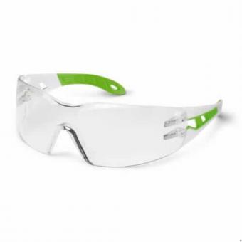 UVEX 9192.725 Schutzbrille Pheos S small, weiß/grün