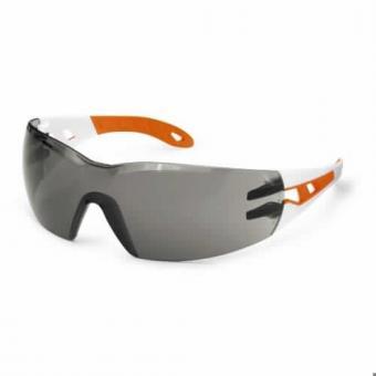 UVEX 9192.745 Schutzbrille Pheos S small, weiß/orange
