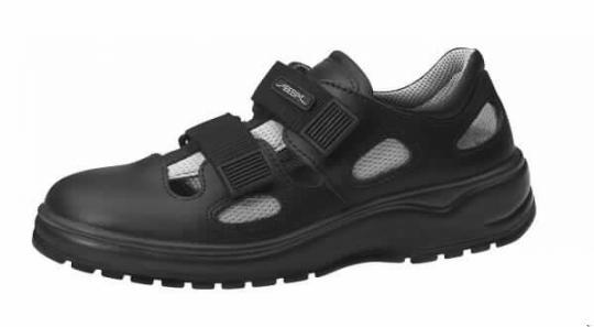Abeba 711036 Sicherheitsschuhe light, Sandale schwarz